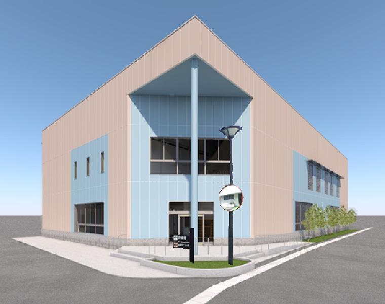 スポーツ健康館(建設中、2019年3月完成予定)